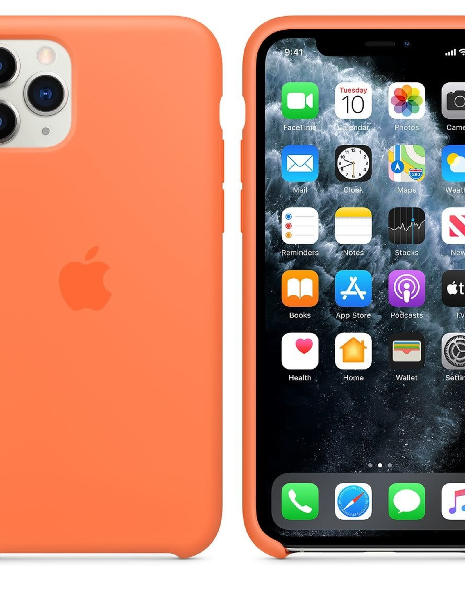 Apple Orange iPhone Silicone Case