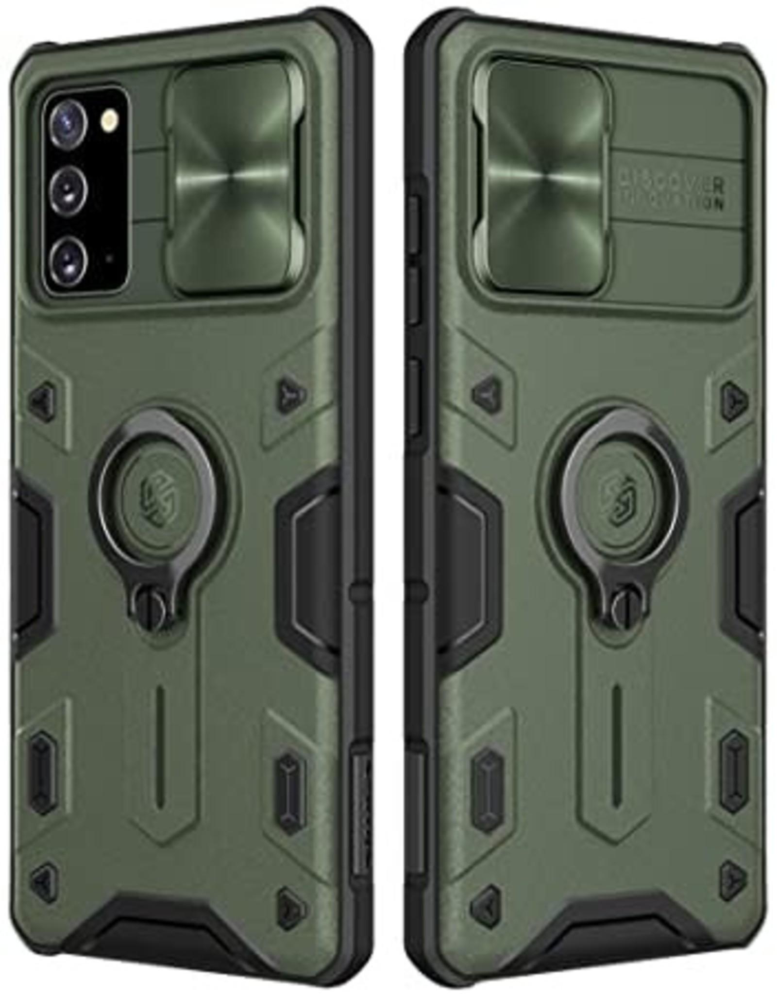 Nillkin NILLKIN CamShield PC TPU with Ring Kickstand Case Note 20 Green
