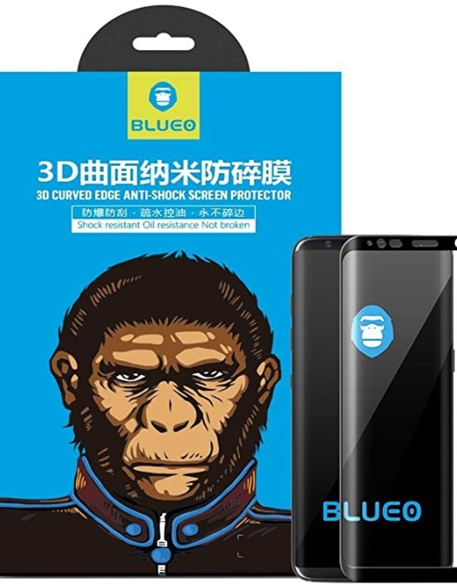 Blueo Blueo Full AB Glue 3D Curved Silk Tempered Glass Screen Protector For