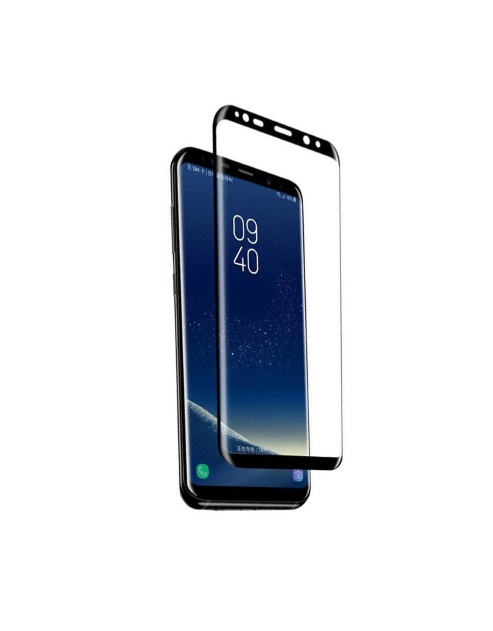 Blueo Blueo Samsung Galaxy S8 Tempered Glass Screen Protector Black
