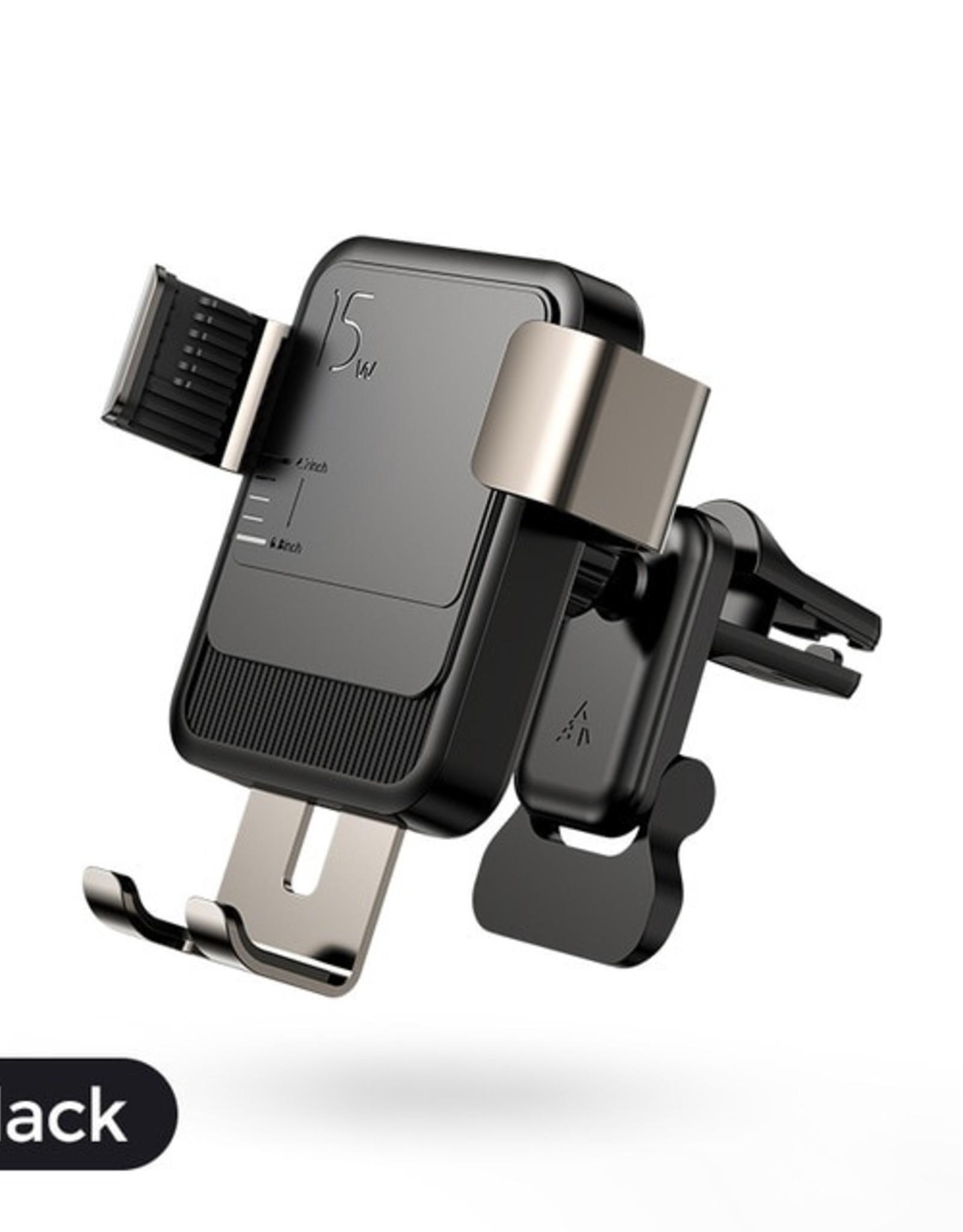 Joyroom 15W  Joyroom Wireless charging gravity Car Holder Vent
