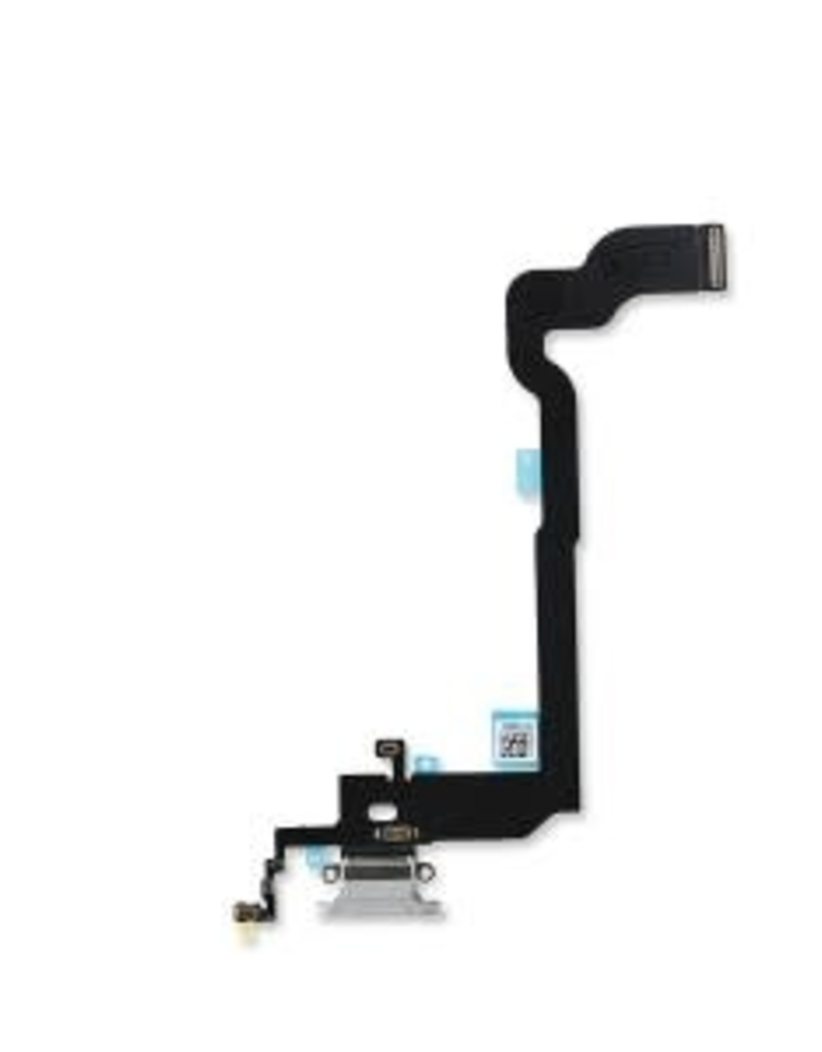 Apple iPhone Charging Port USB Dock Connector Flex Cable Assembly Replacement for iPhone X(Silver)
