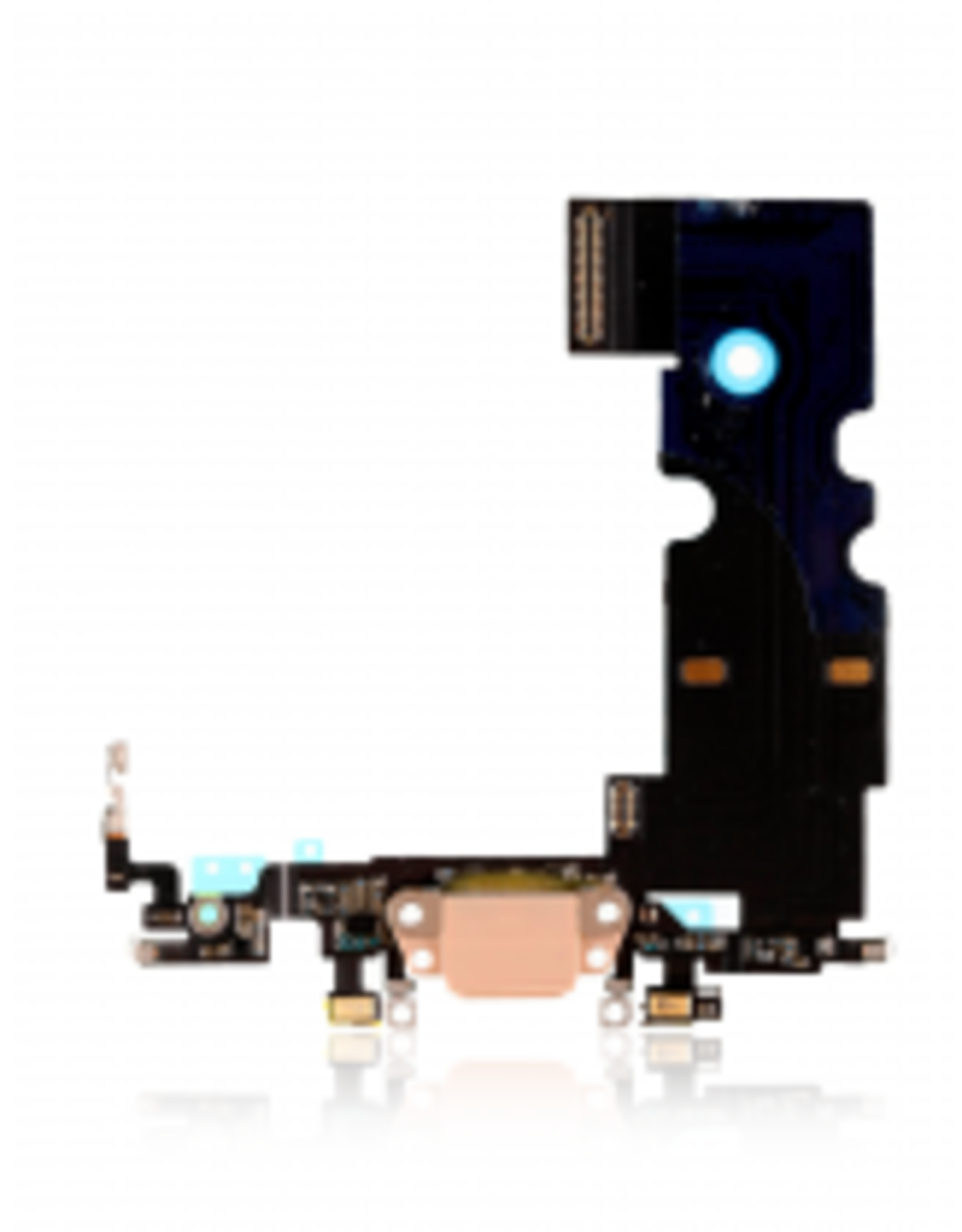 Apple iPhone Charging Port USB Dock Connector Flex Cable Assembly Replacement for iPhone 8 (Gold)