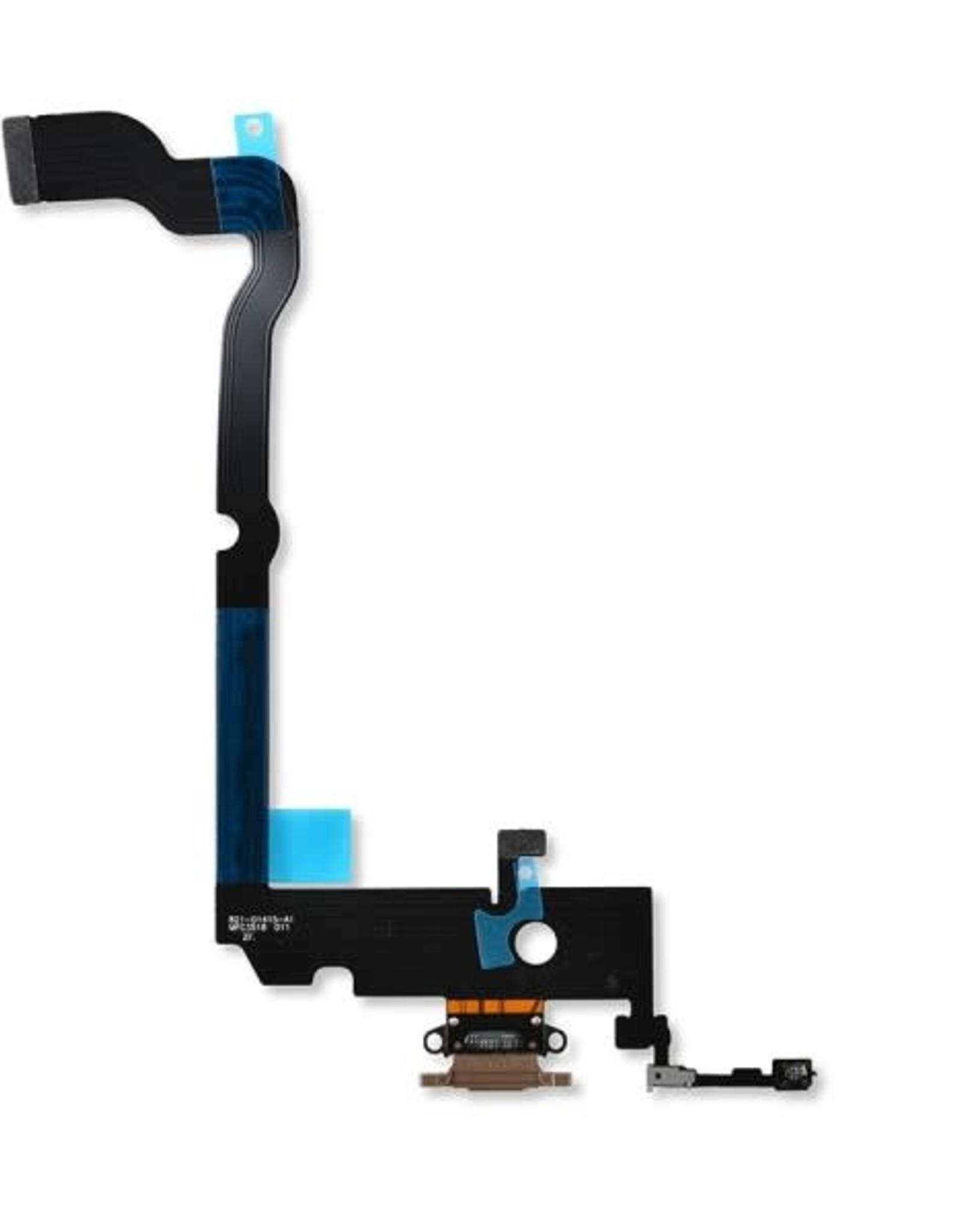 Apple iPhone Charging Port USB Dock Connector Flex Cable Assembly Replacement for iPhone XS max(Rose Gold)