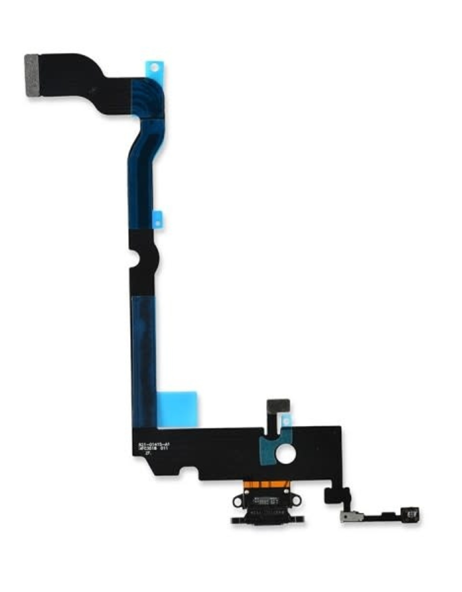 Apple iPhone Charging Port USB Dock Connector Flex Cable Assembly Replacement for iPhone XS max(Space Grey)