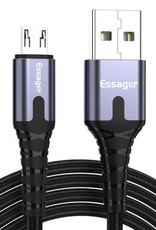 Essager ESSAGER Micro USB to USB Nylon Braided Data Charging Cord w/ LED Indicator 2m