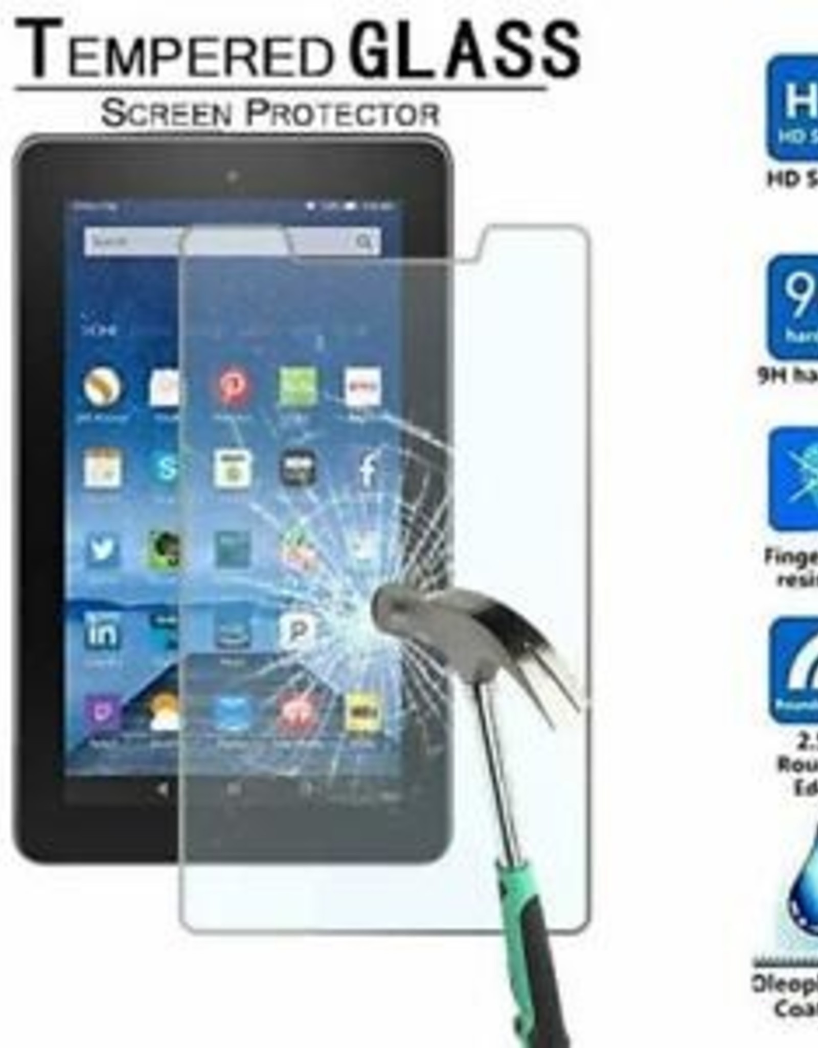 Amazon Tempered Glass for Amazon Fire Tablet 10