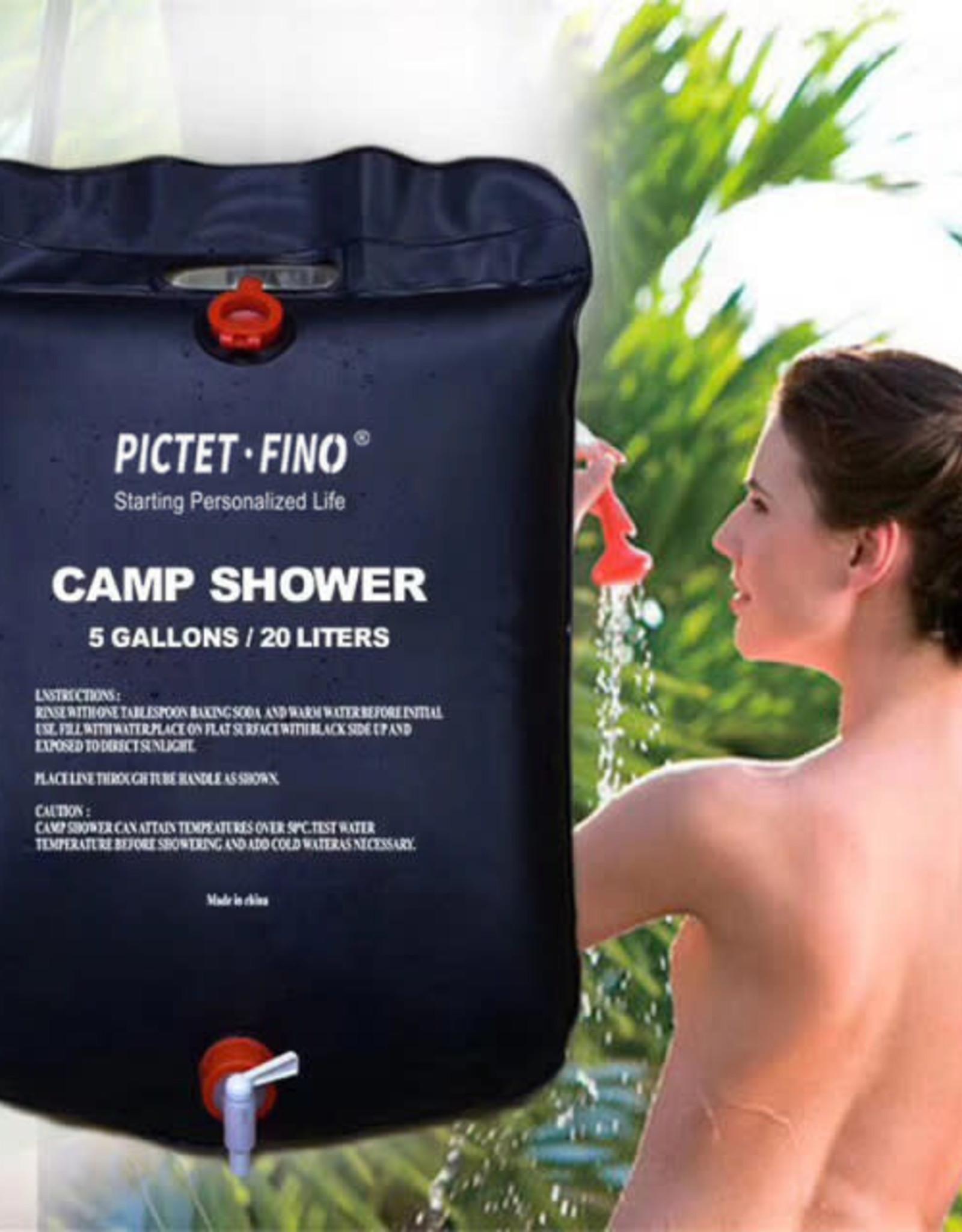 picket-fino Pictet - Fino  Outdoor  Portable Shower Bag Black