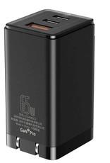 Baseus Baseus GaN2 Pro Quick Charger 2C+U 65W CN Black (Include:Baseus Xiaobai series fast charging Cable Type-C  to Type-C 100W(20V/5A) 1m Black)