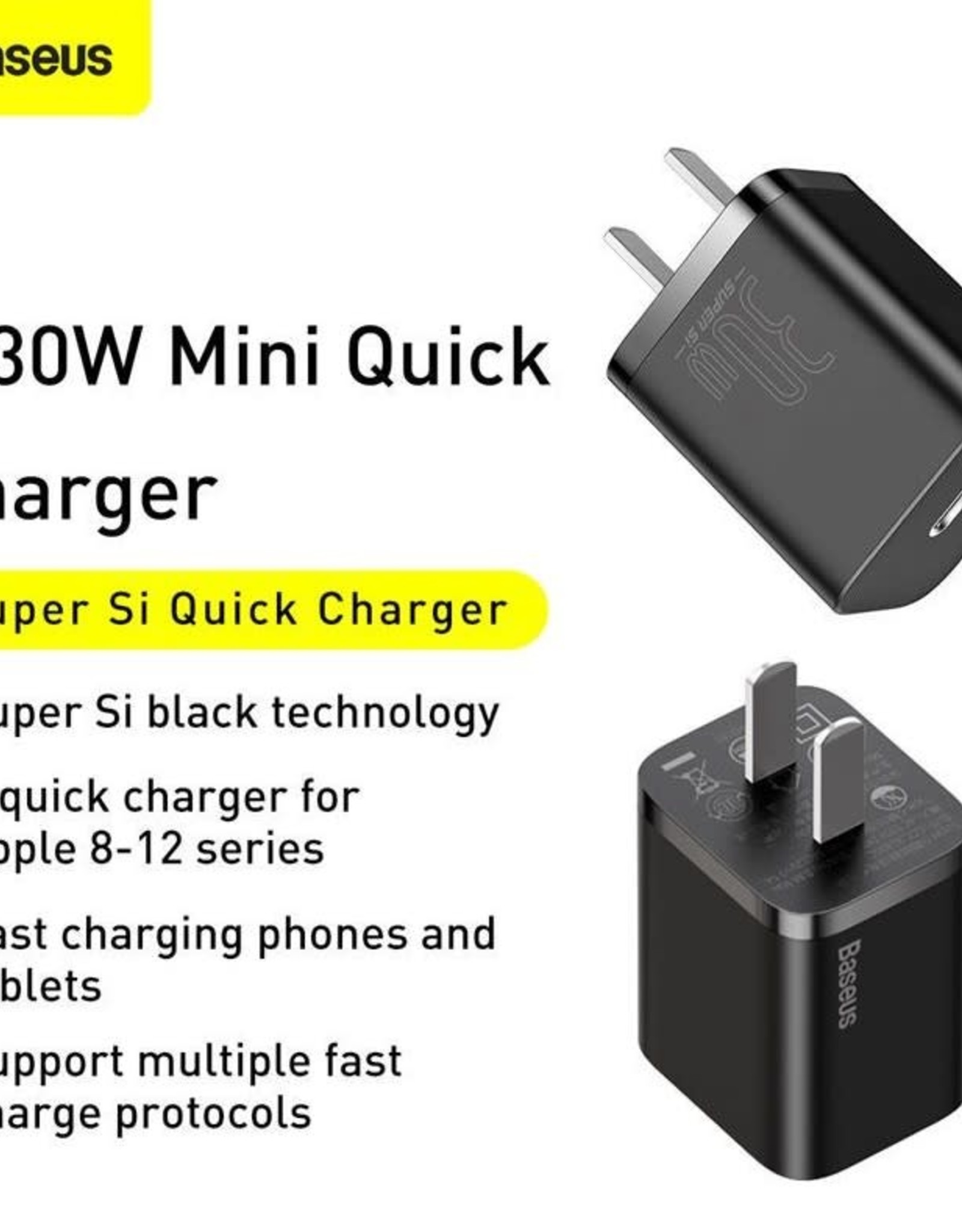Baseus Baseus Super Si quick charger IC 30W CN Black
