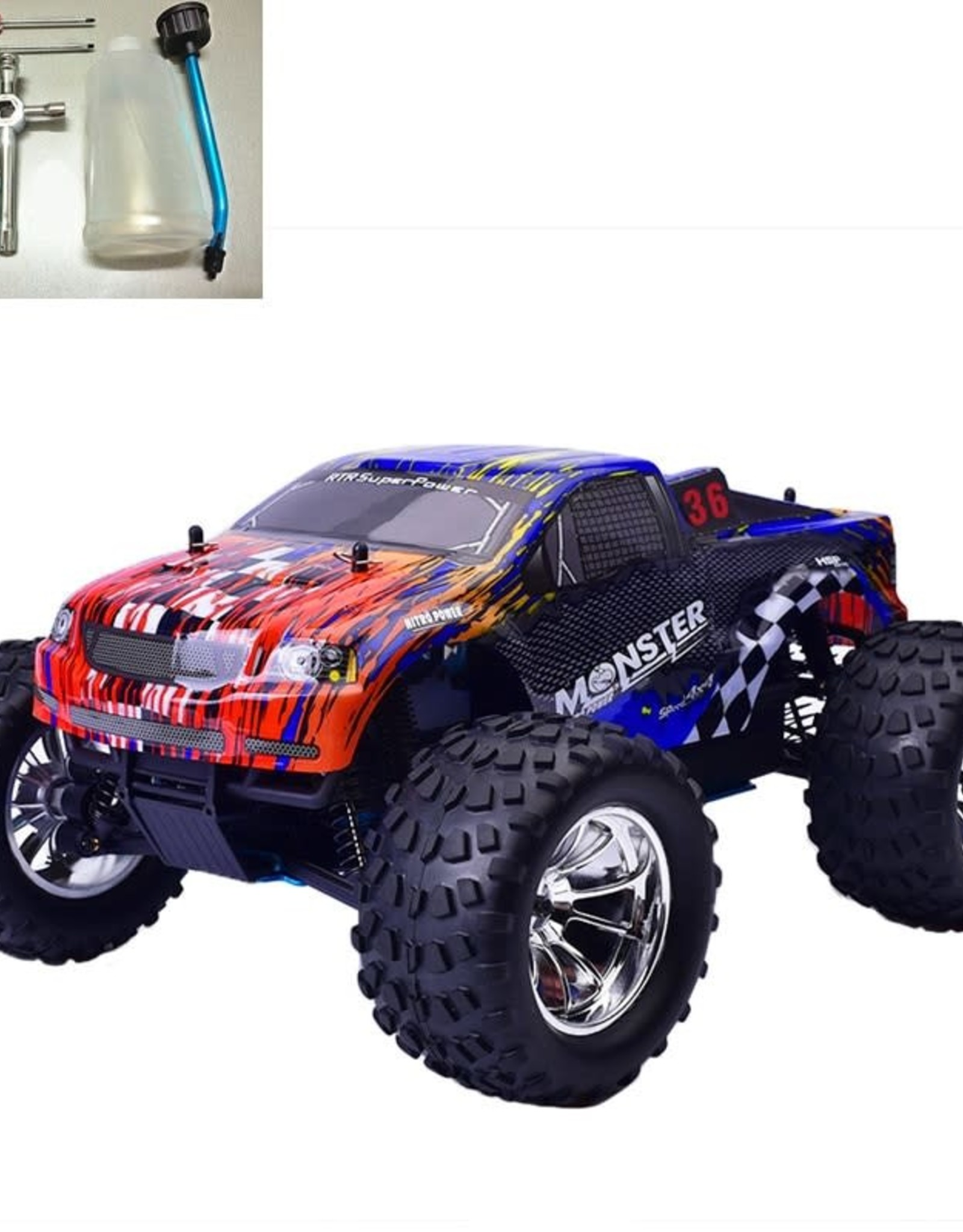 HSP Rc Truck 1/10 Scale Nitro Power Remote Control Car 4wd Off Road Monster Truck 94188 High Speed Hobby Kid Toys