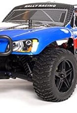 Exceed RC 1/10 2.4Ghz Rally Monster Nitro Gas Powered RTR Off Road Rally Car 4WD Truck Stripe Blue  Starter KIT