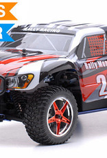 Exceed RC 1/10 2.4Ghz Rally Monster Nitro Gas Powered RTR Off Road Rally Car 4WD Truck Stripe Red/Black