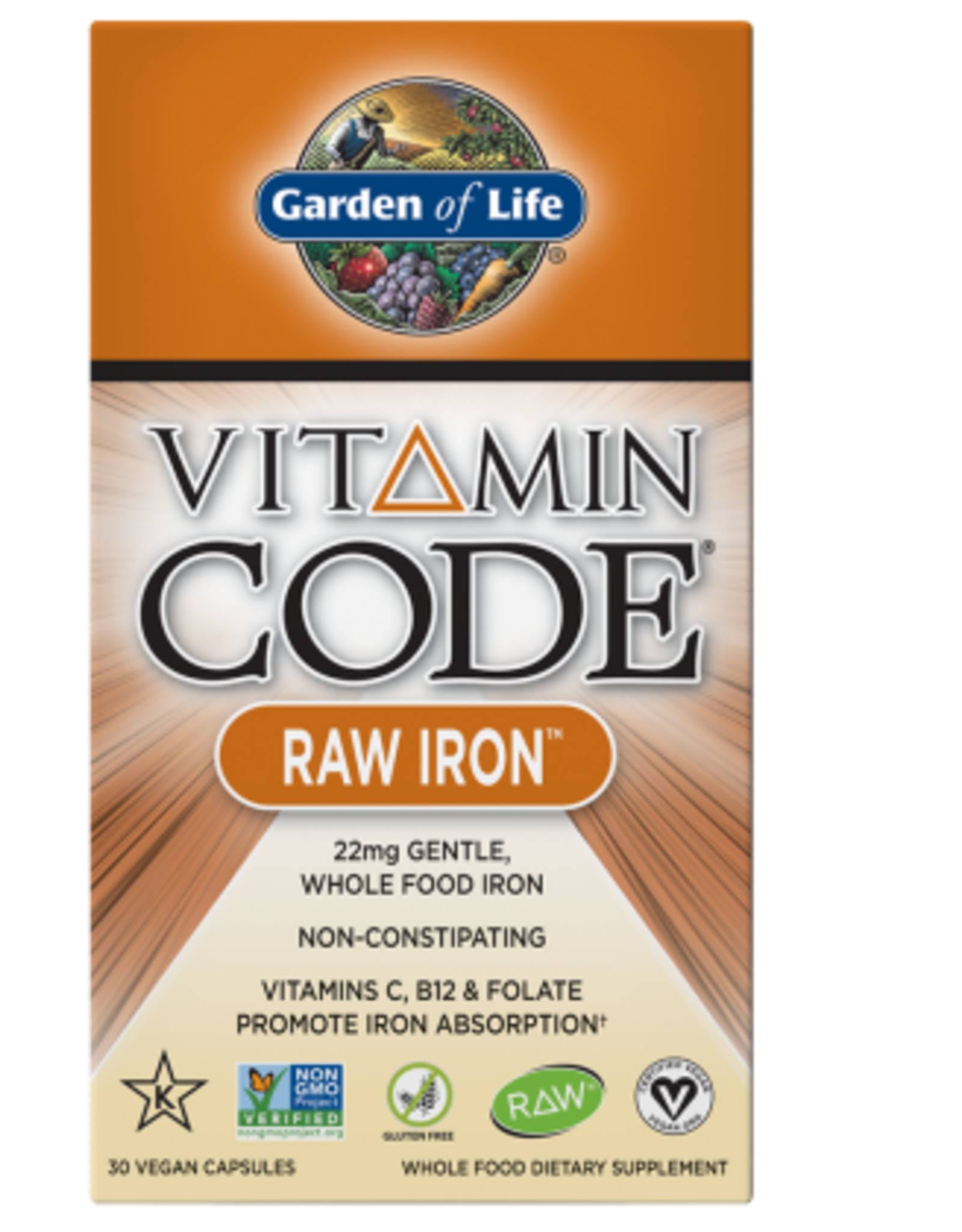 Garden Of Life Vitamin Code Raw Iron 30ct
