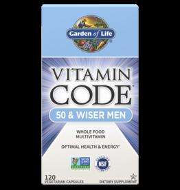 Garden Of Life Vitamin Code 50 and Wiser Men 120ct