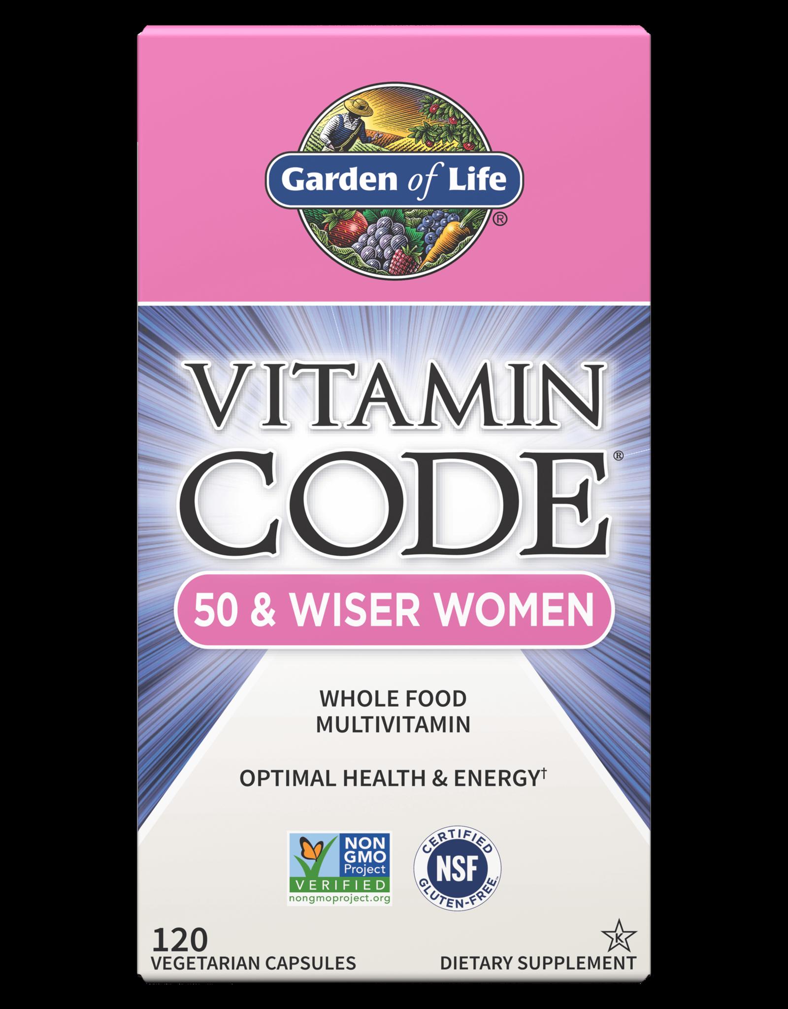 Garden Of Life Vitamin Code 50 and Wiser Women 120ct