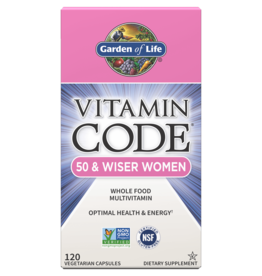 Garden Of Life Vitamin Code 50 and Wiser Women 120ct