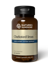 Nature's Sunshine Iron, Chelated (180 tabs) (ko)