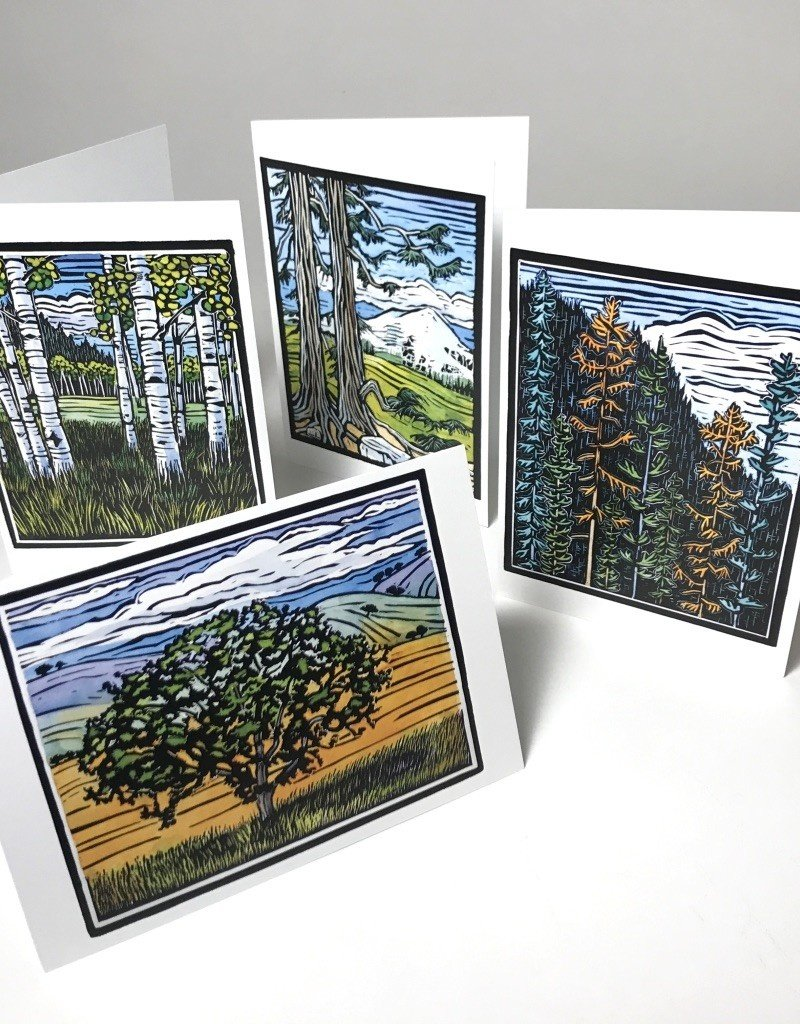 MOLLY HASHIMOTO TREES NOTE CARDS