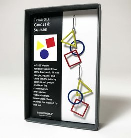 TRIANGLE CIRCLE AND SQUARE EARRINGS