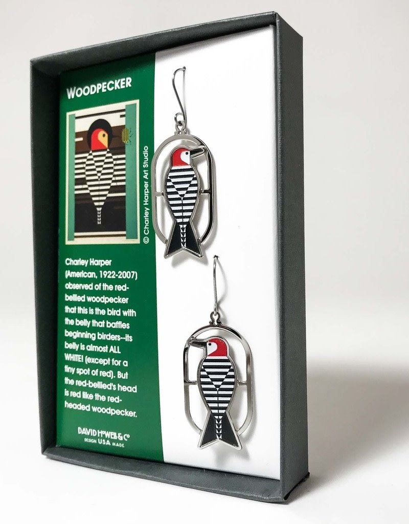 WOODPECKER EARRINGS