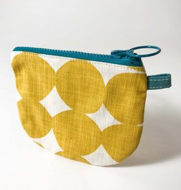 YELLOW PEBBLE SMALL ZIP BAG
