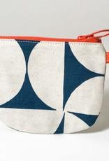 BLUE PINWHEEL SMALL ZIP BAG