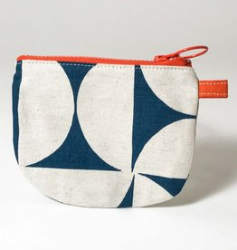 BLUE PINWHEEL SMALL ZIP BAG