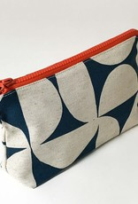 BLUE PINWHEEL LARGE ZIP BAG