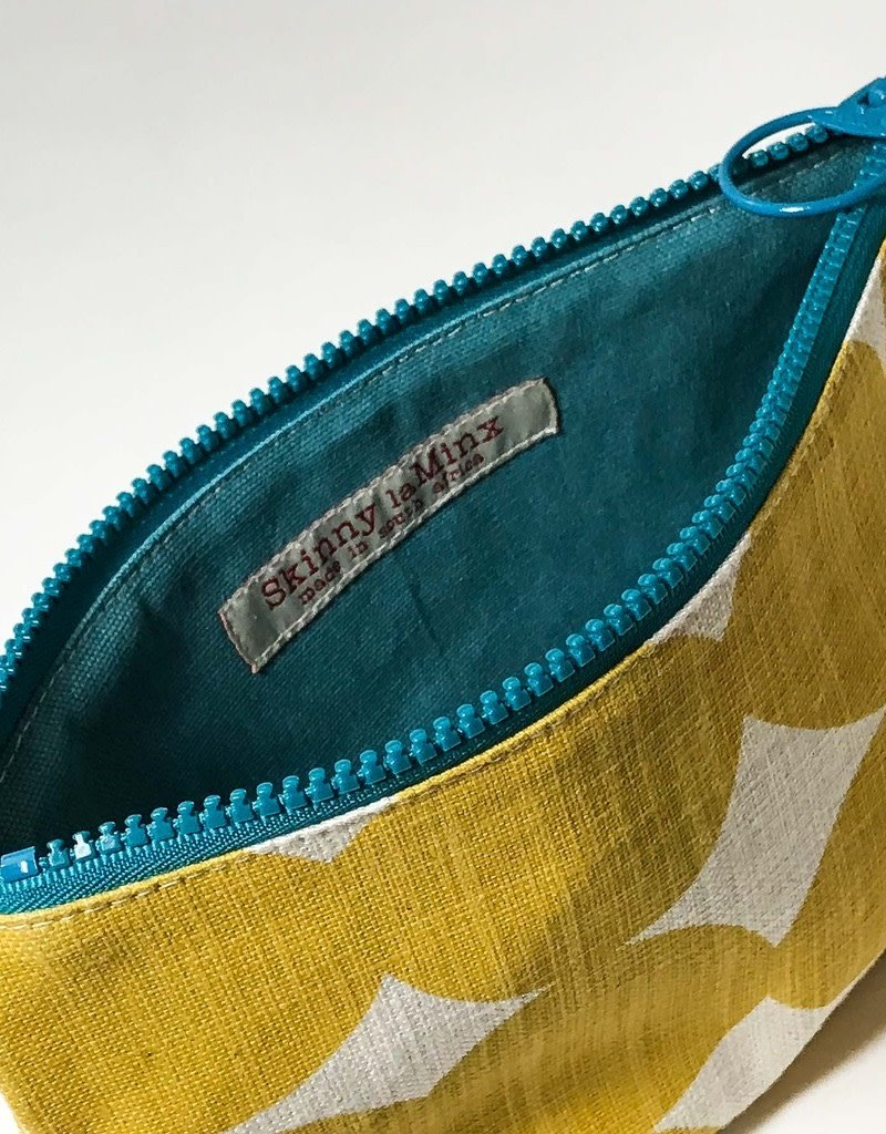 YELLOW PEBBLE LARGE ZIP BAG