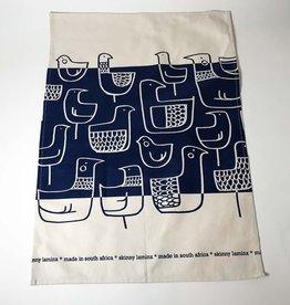 BLUE BIRDS COTTON LINEN TEA TOWEL