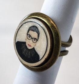RUTH BADER GINSBERG POP ART BUBBLE RING