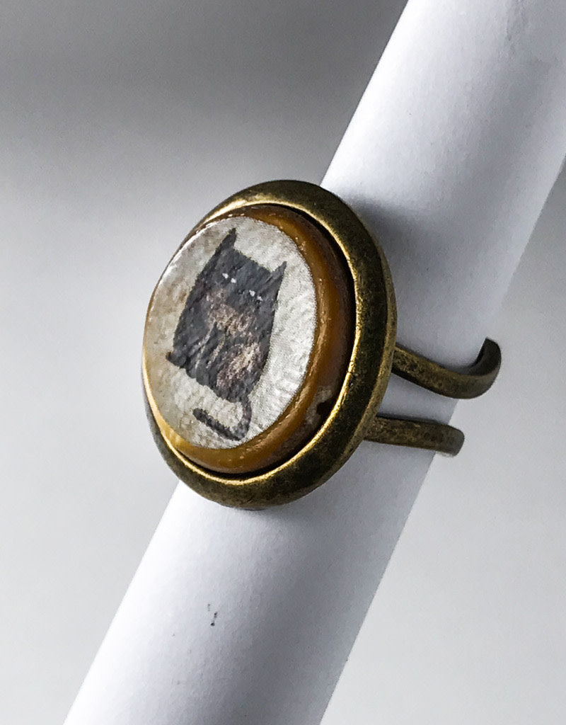 GRUMPY CAT POP ART BUBBLE RING