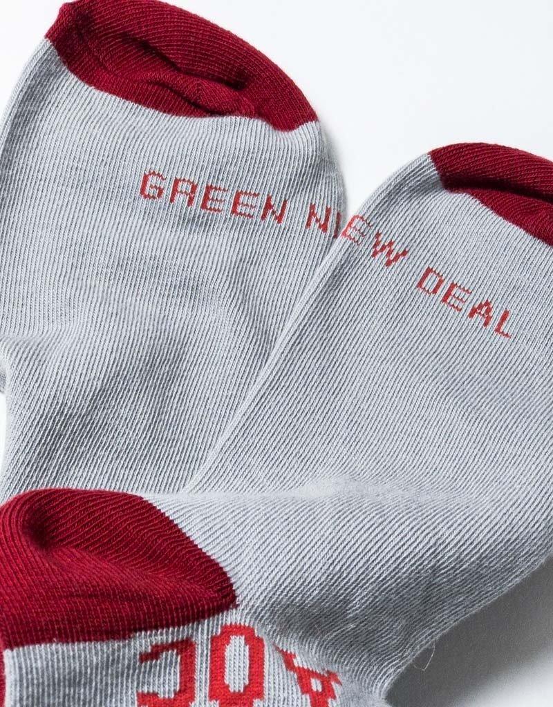 AOC GREEN NEW DEAL SOCKS