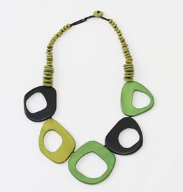SHADES OF GREEN ROSLYN NECKLACE