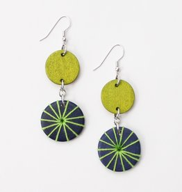GREEN BLUE LEILANI EARRINGS