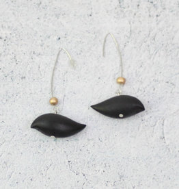 BLACK ROBIN EARRINGS