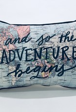 SO THE ADVENTURE BEGINS PILLOW
