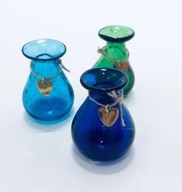 RECYCLED AQUA GLASS VASE