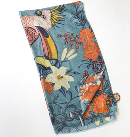 TROPICAL BIRDS SCARF