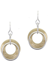 GOLD SILVER DOUBLE HOOPS