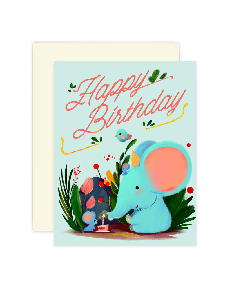 THE LITTLE RED HOUSE ELEPHANT BIRTHDAY CC