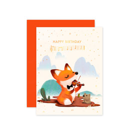 THE LITTLE RED HOUSE BIRTHDAY FOX CC