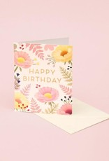 HAPPY BIRTHDAY PASTEL FLOWERS & FERNS CC