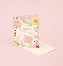 HAPPY BIRTHDAY PASTEL FLOWERS & FERNS CC
