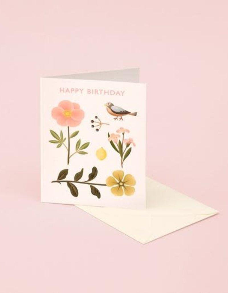 HAPPY BIRTHDAY PINK SPARROW CC
