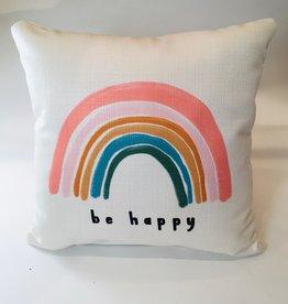 BE HAPPY RAINBOW PILLOW