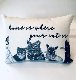 HOME IS WHERE YOUR CAT IS PILLOW