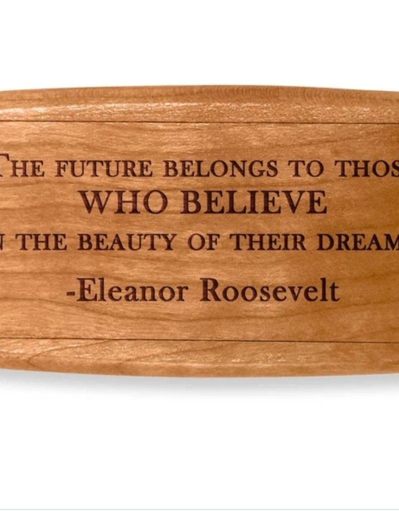 THE FUTURE BELONGS QUOTE BOX