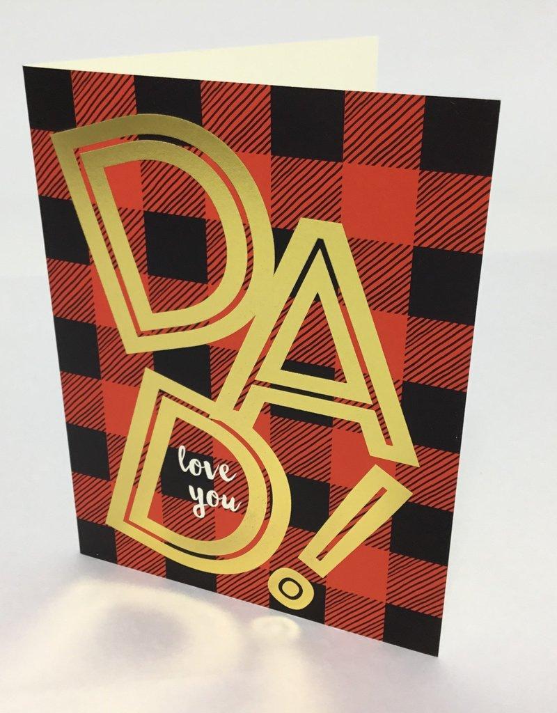 DAD PLAID CARD